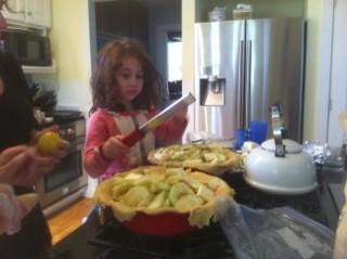 Stella Making Apple Pies