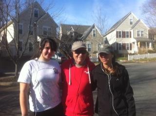 Cami, dad, Janna, running in Virginia