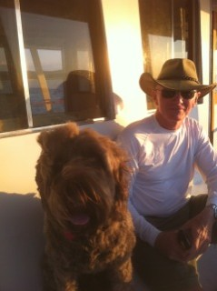 Jake And Friend On Ferry To Hilton Head Island